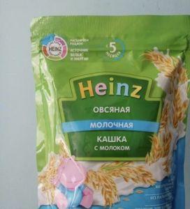 Каша Хайнц 200 гр мол. Пшеница Ом3 с тыквой Пауч с 5 мес.