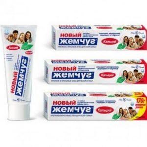 Зубная паста Новый жемчуг 125 мл/170 гр Кальций