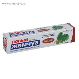 Зубная паста Новый жемчуг 50 мл Кора дуба