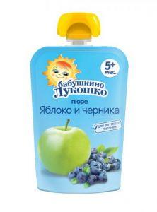 Пюре Бабушкино лукошко 90гр из яблок м/у