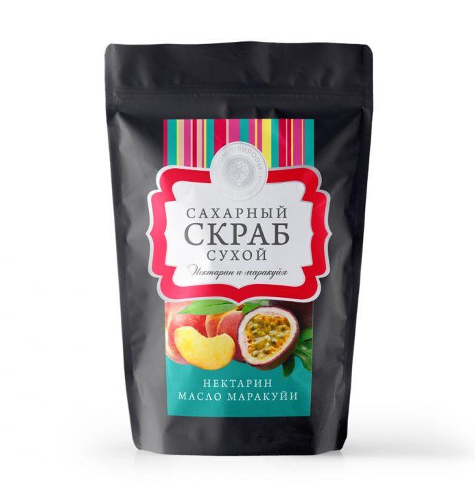 """Сухой сахарный скраб """"Нектарин и маракуйя"""", 250 гр."""