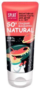 Зубная детская паста SPLAT Junior 6-11 лет Сладкий Мандарин 55мл