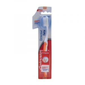 Зубная щетка Колгейт Шелковые нити уголь мягк. 1+1