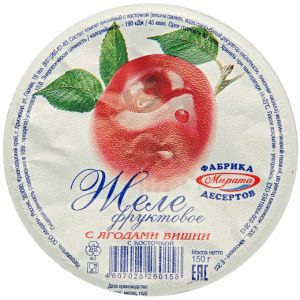 Желе фруктовое с вишней 150г