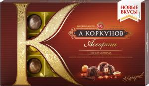 Конфеты Коркунов Ассорти из МОНО мол шок. 192гр окошко