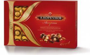 Конфеты Коркунов Ассорти из мол шок. 192гр окошко