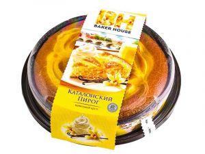 Пирог Ванильный бискв. с крем. нач. Baker House/Ковис 400 гр Раменский