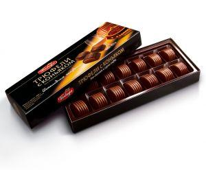 Конфеты шоколадные в коробках Трюфели с коньяком, 180гр