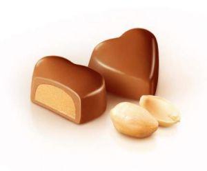 Конфеты 131-G Сердечко золотое с ореховым кремом