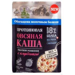 Каша овсяная б/п с клубникой 40гр