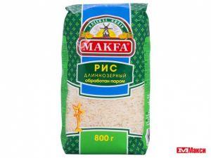 Рис длиннозерный обработ.паром 800гр