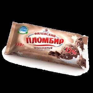 Брикет Натуральный Пломбир шоколадный 100 гр