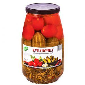 Ассорти Кубаночка 1500гр овощное ст/б