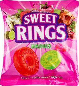 Карамель леденцовая sweet rings drinks (со вкусом мохито, лесная ягода, кола)