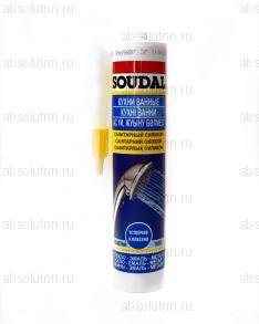 Герметик силиконовый SOUDAL санитарный бесцветный 300 мл