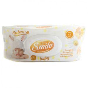Влажные салфетки 72 шт Smile Baby Фитолиния Ромашка+Календула