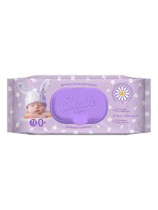 Влажные салфетки с клапаном Фитолиния 100 шт Smile Baby