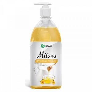 Жидкое крем-мыло Milana молоко и мед с дозатором (флакон 1000 мл)