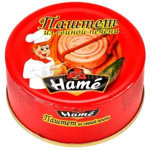 Паштет Хаме 250/260гр из свинной печени