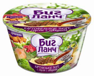 Картоф. пюре соус с говядиной (ведро) 60г*24 БИГ ЛАНЧ