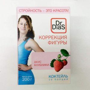 Коктейль со вкусом клубники 10пак*20г Коррекция фигуры Dr,DiaS