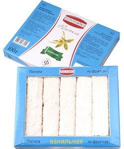 Пастила ванильная на фруктозе 100гр Рототайка