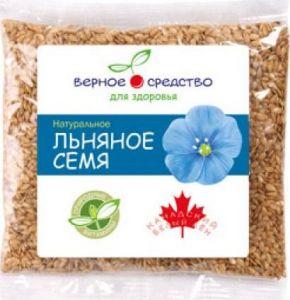 Льняное семя Белый канадский лен 100гр Верное средство