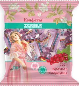 Конфеты жел. Красная смородина с изомальтом со стевией 200гр laFiTOre