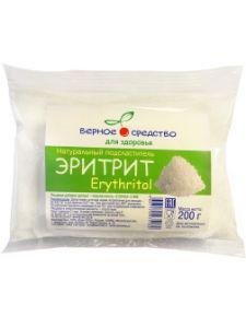 Подсластитель Эритрит натуральный 200гр Верное средство
