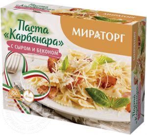 Паста Карбонара с сыром и беконом 350г Мираторг Россия