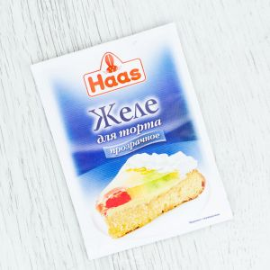 Желе для торта HAAS 11г бесцветная