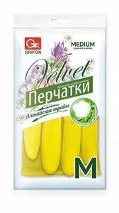 Перчатки латексные GRIFON Алтайские травы, M /1444