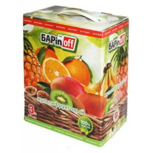 Напиток сокосодержащий Меркурий 3 л Мультифрукт с мякотью б/б (Баринофф)