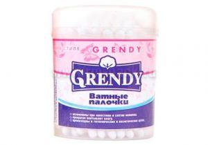 Палочки ватные Grendy 100шт круглая коробка