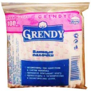 Палочки ватные Grendy 100шт пакет