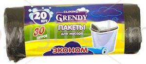 Пакет для мусора ГРЕНДИ 30л/20шт Эконом