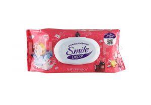 Влажные салфетки 15 шт Smile Decor