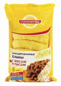 Блинчики Солнцепек мясо тушеное с рисом 420 г (Сиб. Гурман)