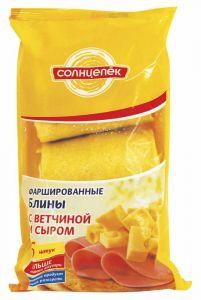 Блинчики Солнцепек с сыром и ветчиной 360 гр (Сиб. Гурман)