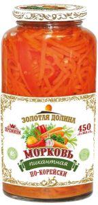 Морковь пикантная по-корейски 450 мл с/б Золотая Долина