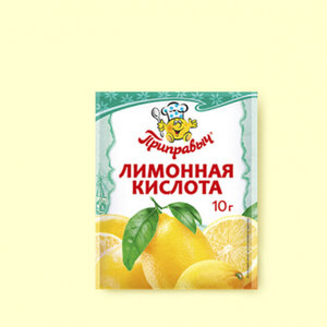 Лимонная кислота 10г шоу-бокс Белое солнце Проксима