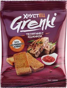 Гренки Хрустец 80гр со вкусом телятины с аджикой