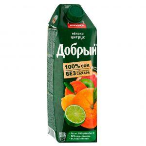 Добрый 1л. Яблоко+Цитрус (Яблоко, Апельсин, Мандарин)