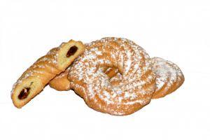 Печенье Колечко с фруктовым джемом 500 гр (Волков)