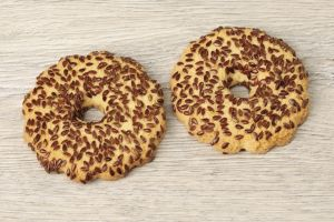 Печенье Песочное кольцо с семенами льна 500 гр (Волков)
