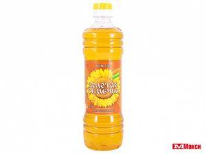 Масло Золотая семечка ароматное нерафин 0,5 л