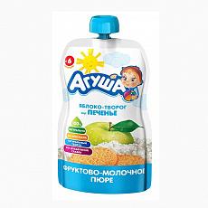 Пюре фруктовое Агуша 90 гр Ябл-клубника-творог