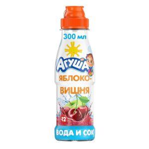 Вода и сок Агуша Яблоко-Вишня 300 мл