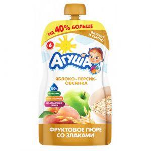 Пюре фруктово-зерновое Агуша 130 гр Ябл-персик-овсянка