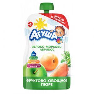 Пюре фруктово-овощное Агуша 90 гр Ябл-морковь-абрикос